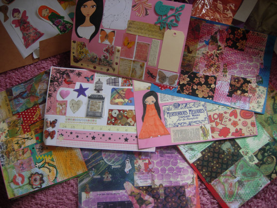 Pack of all the collection of a pink dreamer's collage sheets- 8 pack