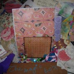 A magic surprise box full of whimsy - art supplies for mixed media art/art journaling/collage/scrapbooking-Fun Fun Fun